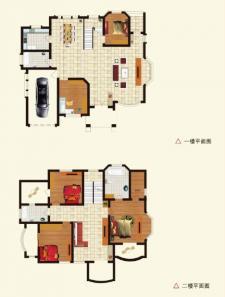 C户型别墅四室两厅两卫